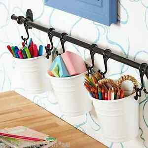 Ikea-FINTORP-Rail-57cm-5-Hooks-white-Cutlery-stand-Utensil-Organizer-Set