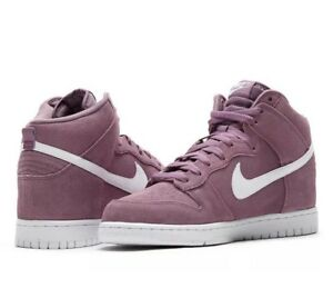 cozy fresh 72e0c 2b1ad Image is loading Nike-Men-s-Dunk-HI-Tops-Suede-Purple-