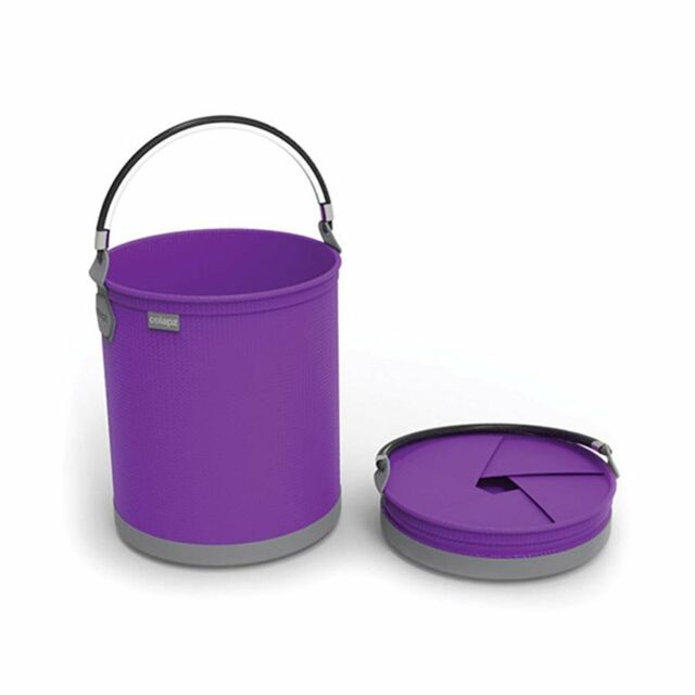 Colapz Collapsible 10L Bucket Gardening Outdoor Travel Camping Boating Purple