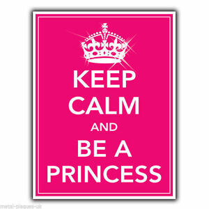 keep calm and be a princess metal sign wall plaque poster print