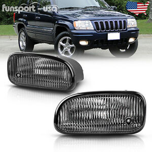for-1999-2003-Jeep-Grand-Cherokee-Clear-Bumper-Fog-Lights-Lamps-Bulbs-Left-Right