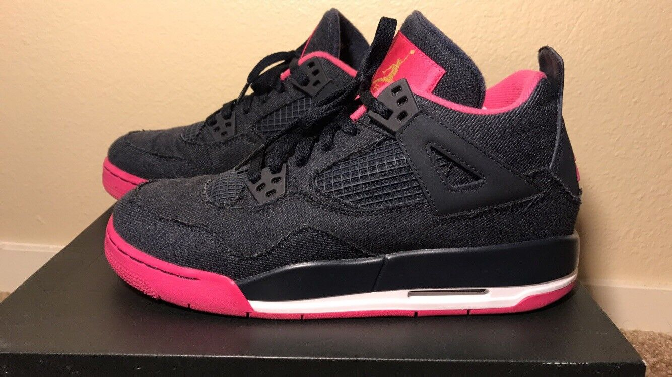 2016 Air Jordan 4 Retro GS Denim Dark Obsidian Blue Comfortable The latest discount shoes for men and women
