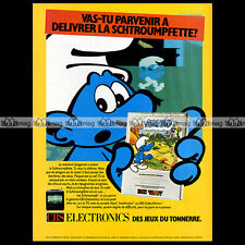 SCHTROUMPF SMURF CBS COLECOVISION Video Game 1983 Peyo : Pub Advert Ad #A1332