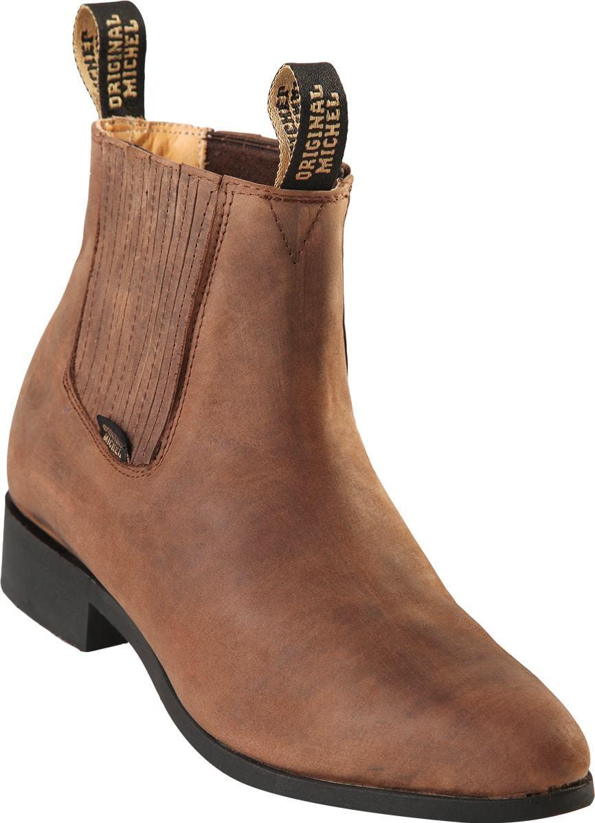 Uomo Original Michel Genuine Crazy Crazy Crazy Suede Leather Charro Ankle stivali Rubber Sole fef609