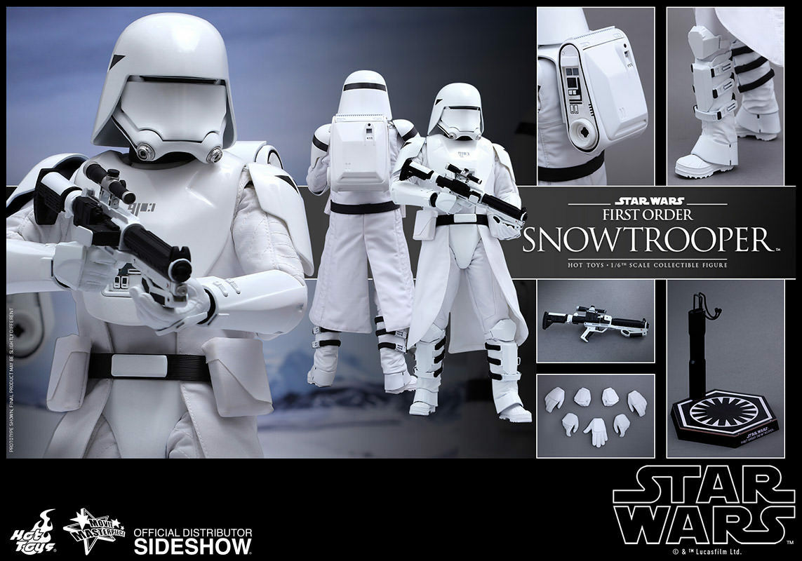 Hot Toys Star Wars: The Force Awakens Scale FIRST ORDER SNOWTROOPER Figure 1/6 Scale Awakens 6f5862