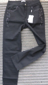 Guido-Maria-Kretschmer-by-Heine-Jeans-Trousers-Black-Size-48-to-50-372-226