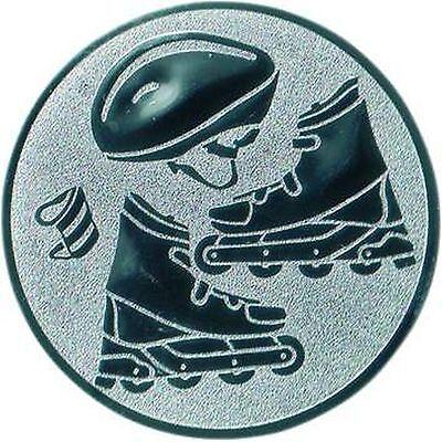 100 große Embleme Inline-Skating 4 Rollen D:50mm (für Medaillen Pokale Pokal)