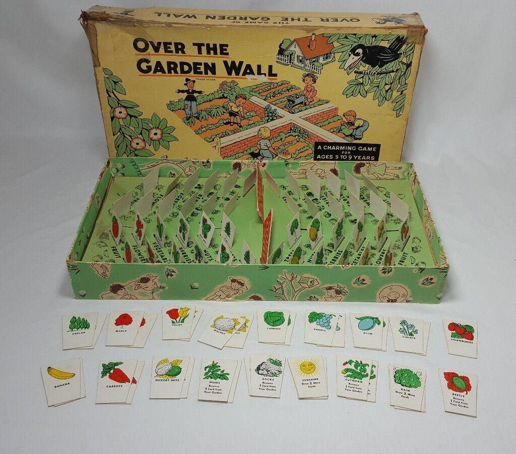 Vintage rare le jeu de sur le Jardin Murale Parker Brougehers Jeu de plateau 1940 S