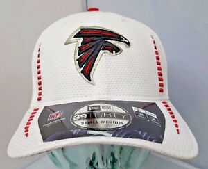8e8ba49aefc Atlanta Falcons NFL White New Era Flex Fit Size S M Curve Brim Hat ...