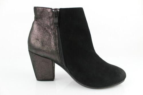 ONE STEP Bottines Boots Cuir et Daim Noir et Bronze T 37 Très bon état