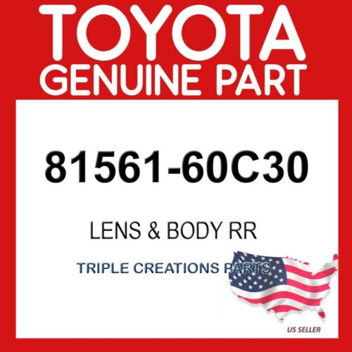 TOYOTA GENUINE 8156160C30 LENS /& BODY REAR LH 81561-60C30