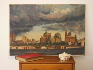 BROOKLYN - NYC Impressionist Painting on canvas. Beautiful City Landscape!