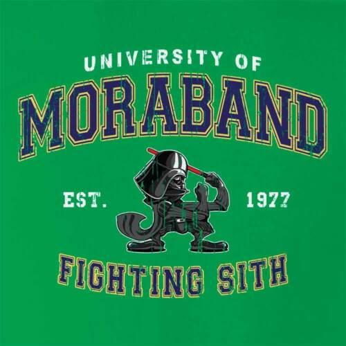 Star Wars Darth Vader Moraband T-shirt Mens Notre Dame Fighting Irish Sith Tee