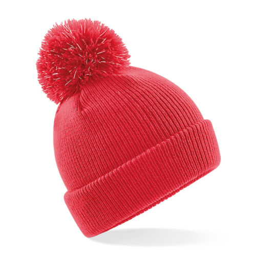 Safety Hat Kids Boys Girls Beechfield Junior Reflective Bobble Beanie B406B