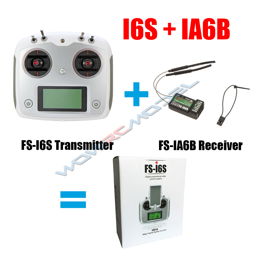 Flysky FS-i6S 2.4G 10ch 2A Transmitter with IA6B Receiver For RC Quadcopter
