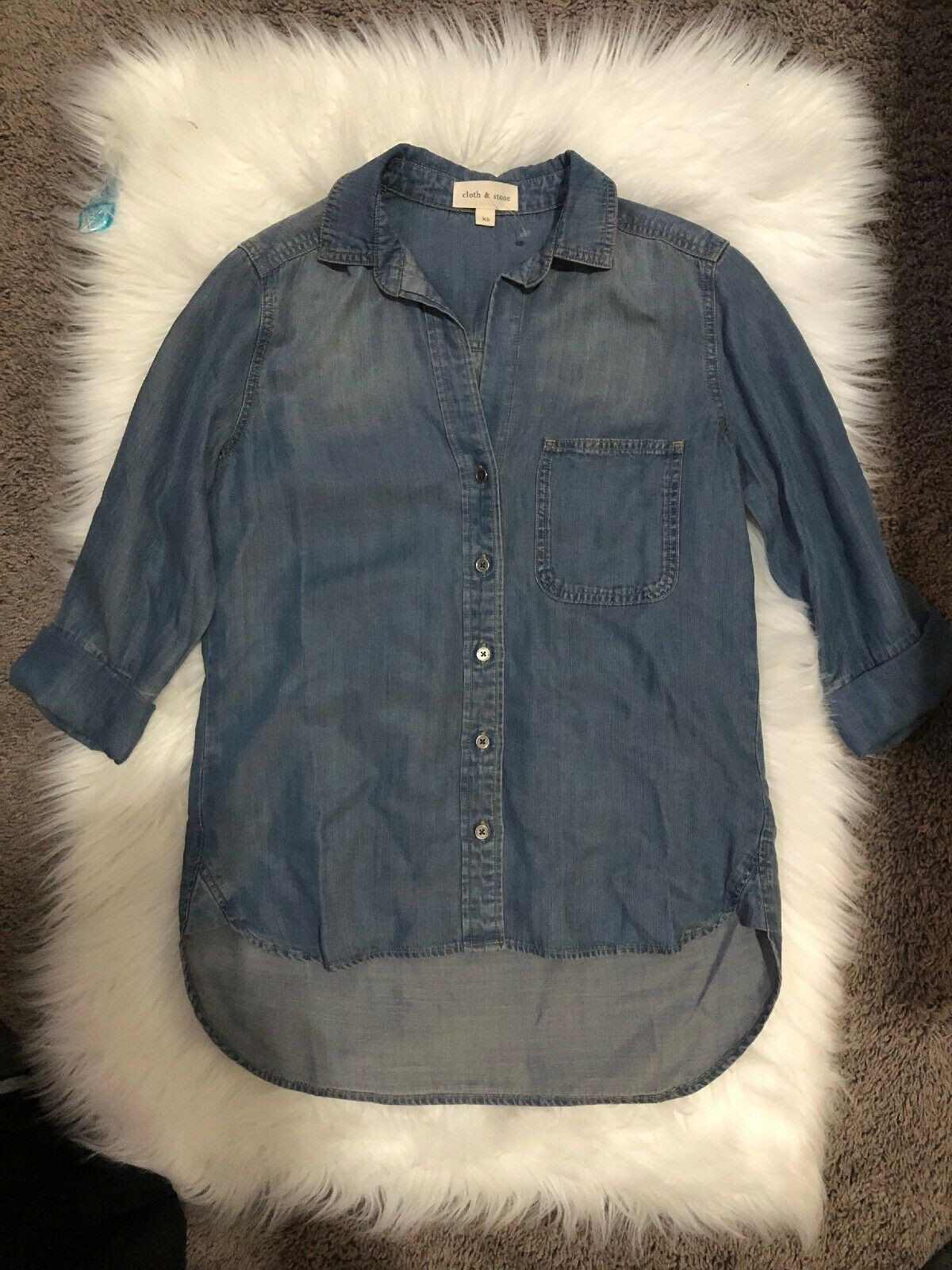 Cloth And Stone Denim Blouse Größe xS