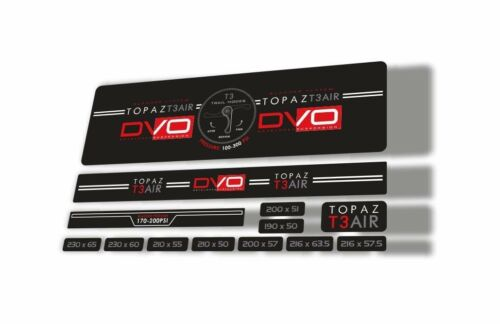DVO 2016 Topaz T3 Air Rear Shock Suspension Sticker Factory Decal Adhesiv Red