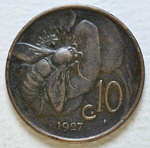 1927-Kingdom-Italy-10-Cents-Bee