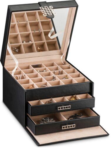 Holder for Earrings Black 54 Slot Jewelry Box Earring organizer Holder Case