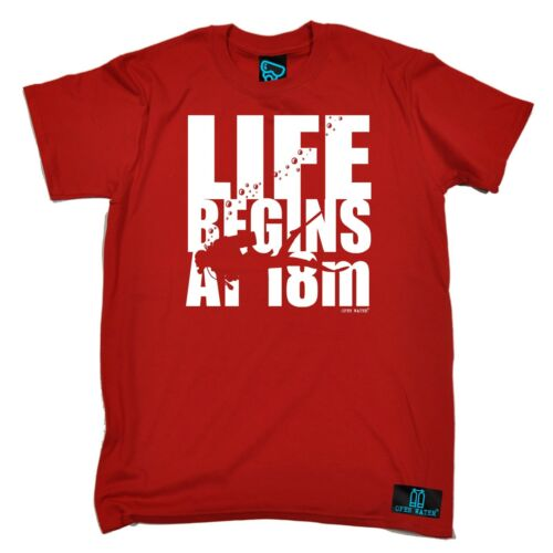 Life Begins At 18 Meters T-SHIRT Tee Scuba Divers Diving Funny birthday gift