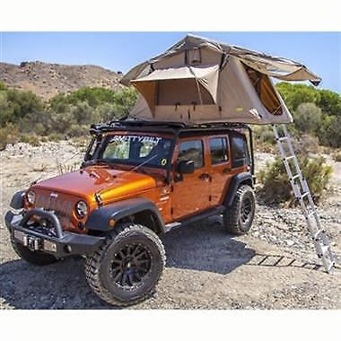 Overlander Roof Top Tent With Roof Rack For Jeep Wrangler Jk