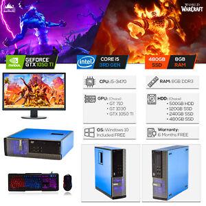 Dell-personalizada-compacto-PC-Para-Juegos-Intel-i5-8GB-480GB-SSD-GTX-1050Ti-Win10