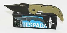 Cold Steel Espada Medium Knife OD Green G-10 Handle Black Plain Edge 62NGMVG