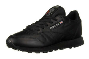 Reebok-Classic-Leather-Black-Mens-Running-Trainers-Tennis-Shoes-116