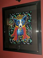 George Rodrigue 'Mardi Gras' Blue Dog Silkscreen 1996 LE