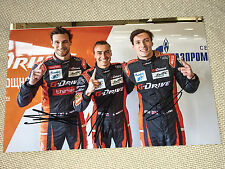 WEC Le Mans 2017 G-Drive Lynn,Rusinov,Thiriet SIGNED Autograph,Signiert