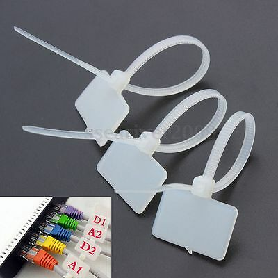 100-500x Nylon Self-Locking Label Tie Network Cable Marker Cord Wire Strap Zip