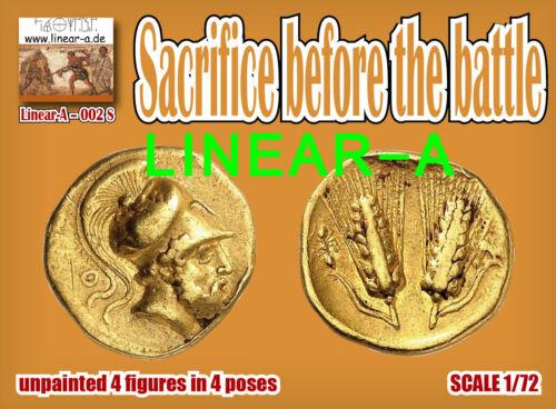 LINEAR-A NEU 1:72 FIGUREN 002s Sacrifice before the battle