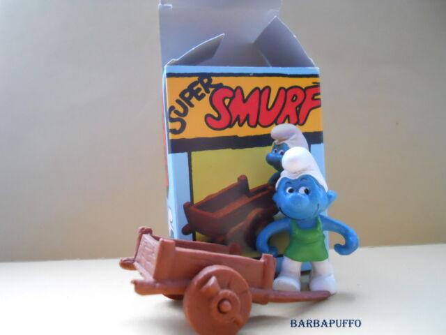 40206 box smurf gardener smurf pitufos puffi puffo smurfette box