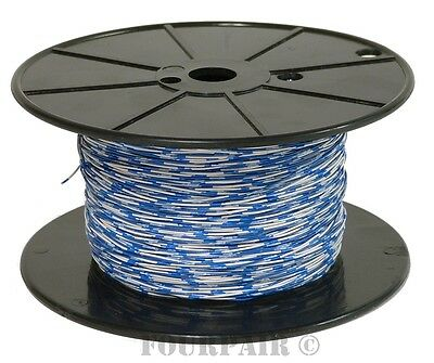 Cross Connect Telephone Wire Cable - 24/2 2C 24 AWG 1 Pair Blue/White - 1000 FT