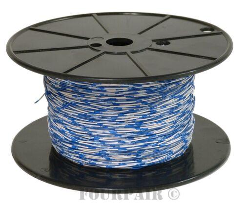 Interconexión Teléfono Cable De Alambre 24//2 2C 24 AWG 1 Par Azul//Blanco 1000 FT