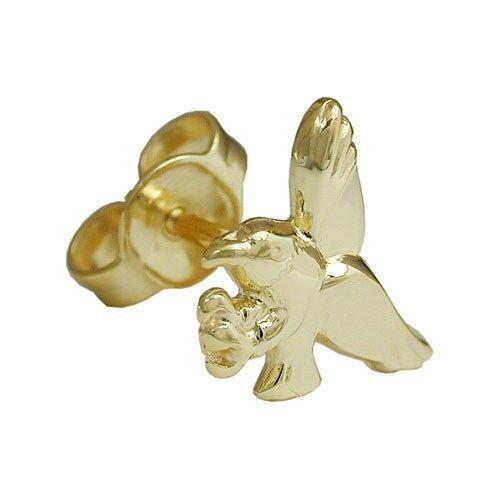 1 hombres caballeros águila individuales pendientes de arete masivamente real oro 333 nuevo