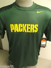 Nike NFL Mens Pro-Combat Hyper-Cool Green Bay Packers Training Shirt NWT $55 L
