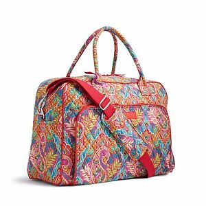 Image is loading VERA-BRADLEY-Weekender-Travel-Carry-On-Bag-Tote- eee7cc99022ed