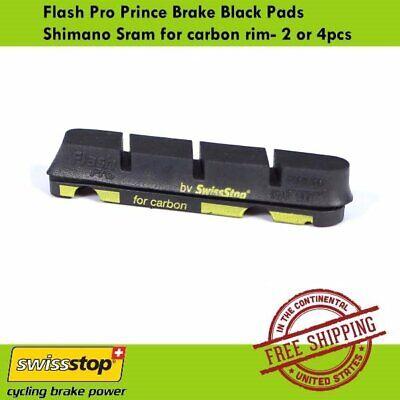 4pcs SwissStop Flash Pro Black Prince Brake Pads Shimano Sram for carbon rim 2