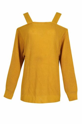 Donna Cinturini Al Largo Della Spalla Maglia Baggy Sovradimensionato Maglione Top Sweater