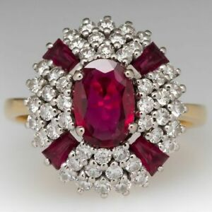 2.4 Ct oval shape pink ruby july birthstone dome anniversary ring gift for her