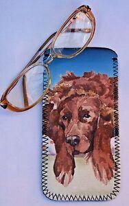 IRISH-SETTER-DOG-NEOPRENE-GLASS-CASE-POUCH-SANDRA-COEN-ARTIST-WATERCOLOUR-ART