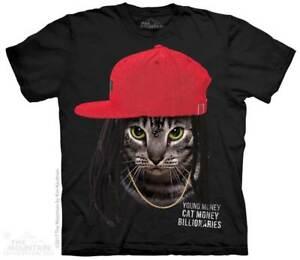 Cat Money Billionaires T Shirt By The Mountain Hip Hop Cat Sizes S