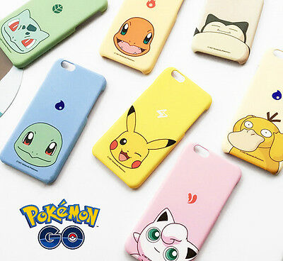 Hot Game Pokemon Series Cute Pikachu Shell Case Cover For iPhone 6 6S 6S Plus