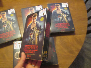 STRANGER-THINGS-SEASON-1-one-BLU-RAY-DVD-4-disc-TARGET-VHS-PACKING-POSTER