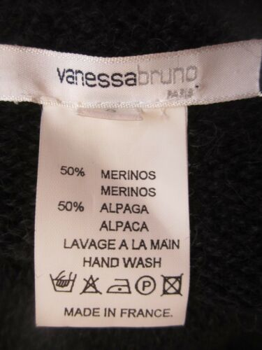 Cardigan Sort 3 Dame Frankrig Paris Ls Vanessa Alpaca Medium Bruno Merino Uld qTAz41Zn