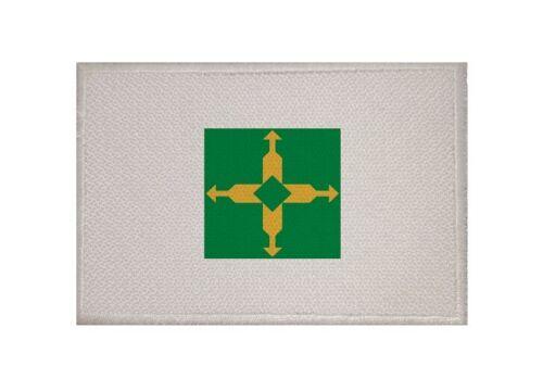 Ricamate Brasilia città bandiera bandiera aufbügler Patch 9 x 6 cm