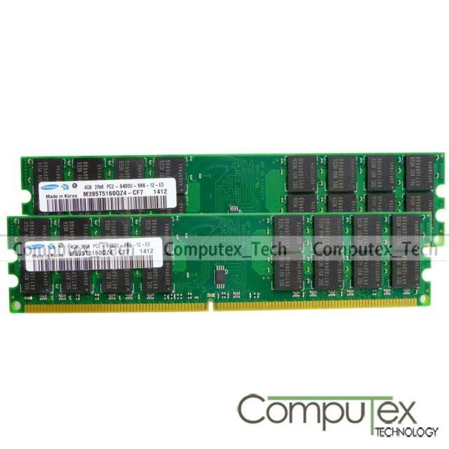 Samsung DDR2 8GB KIT 2x4GB PC2-6400 800Mhz Fr AMD Motherboard Desktop Memory RAM