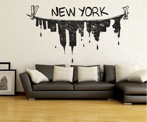 Image Is Loading Vinyl Wall Decal Sticker New York City Clothes