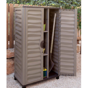 Image Is Loading Outdoor Storage Cabinet Garden Vertical Partition Plastic  Horizontal
